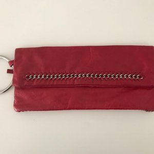 Authentic Bebe Brand Soft Leather Wristlet Clutch
